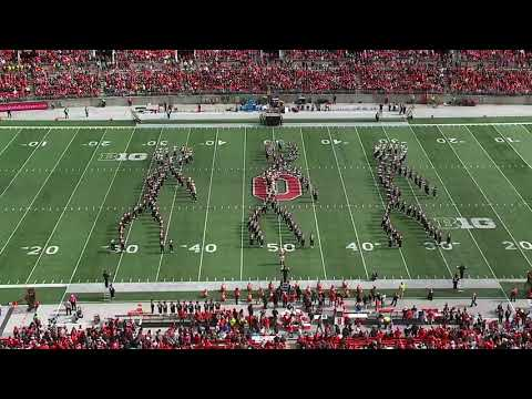 Dave Alexander -  The Ohio State marching band has one cool halftime performance.