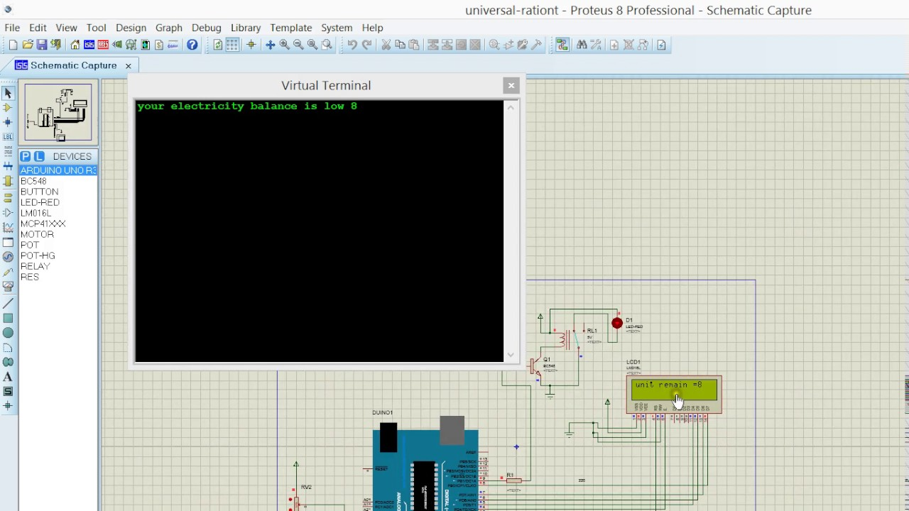 hight resolution of prepaid energy meter with power theft and power line fault proteus simulation part 1