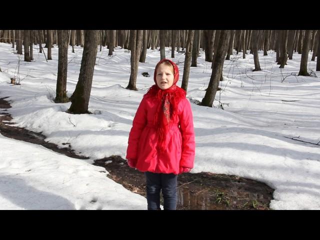 Изображение предпросмотра прочтения – ЛилияКолесникова читает произведение «Весна (Зима не даром злится…)» Ф.И.Тютчева