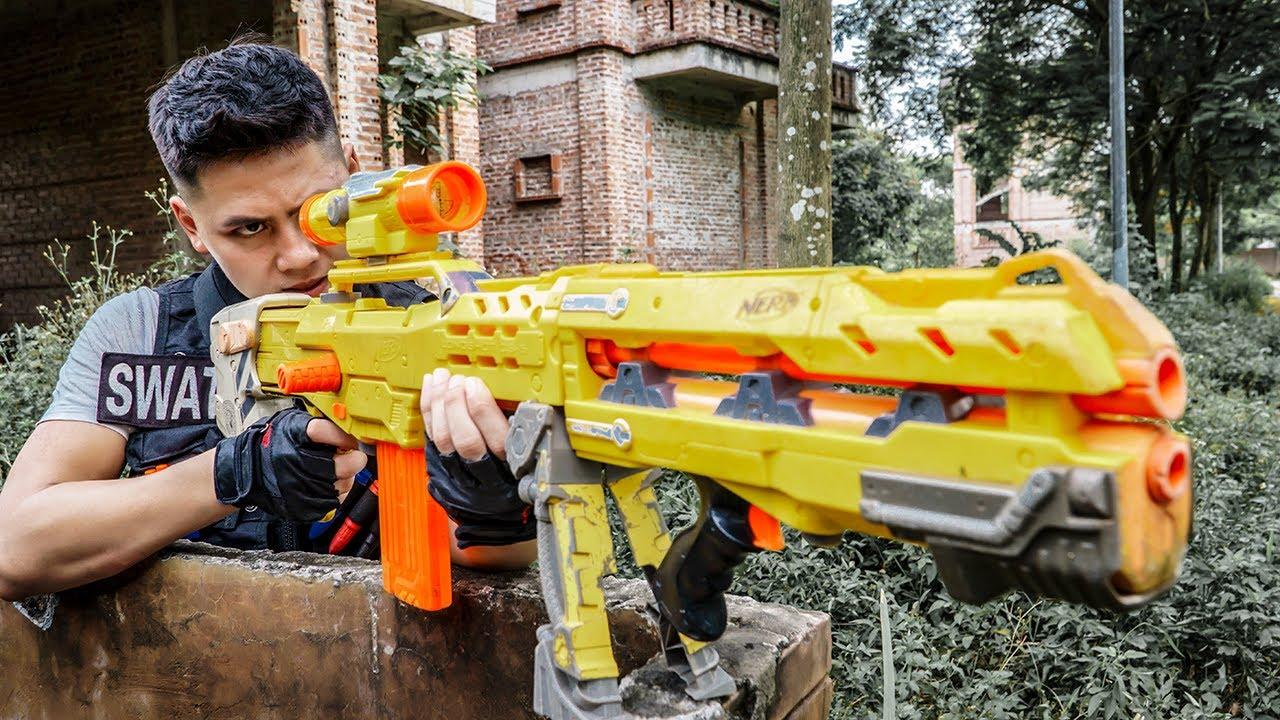 LTT Game Nerf War : Two Warriors SEAL X Nerf Guns Fight Braum Crazy Destroy Base Humiliator