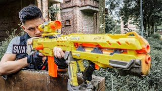 LTT Game Nerf War : Two Warriors SEAL X Nerf Guns Fight Braum Crazy Destroy Base Humiliator