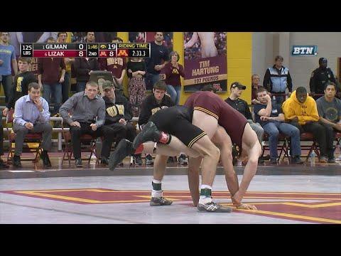 Big Ten Rewind: 2017 Wrestling - 125 LBs - Iowa's Thomas Gilman vs. Minnesota's Ethan Lizak