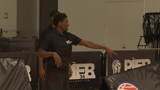 Aaron Holiday relishes opportunity to give back at NBA Cares clinic in New York City