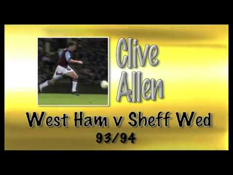 CLIVE ALLEN - West Ham v Sheff Wed, 93/94   Retro Goal