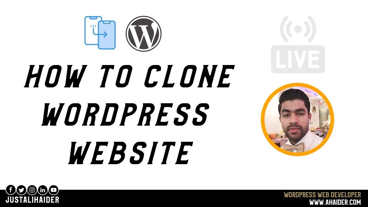 How To Clone WordPress Website Template | Divi Theme Tutorial | Ali Haider
