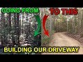 How to Build a Gravel Driveway. Building a Cabin DIY - Video 4
