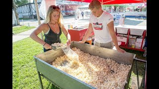 Teen kettle corn owners