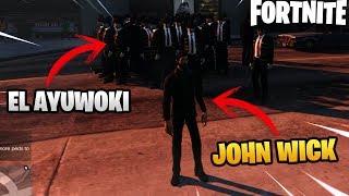 AYUWOKI VS JOHN WICK *LORD DEATH* WHO WILL WIN? FORTNITE MODS