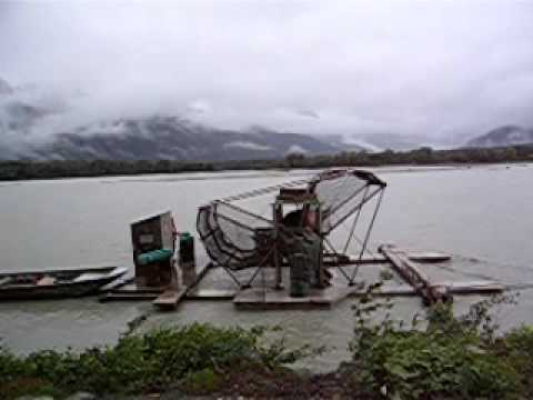 Fish Wheel Operated By The Alaska Department Of Fish And Game