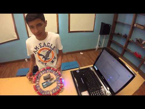 Ricardo N - LED Wall Clock Final Video (Main Project)