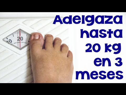 Dieta bajar 20 kilos en 4 meses