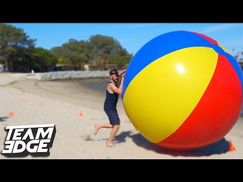GIANT BEACH BALL RACING CHALLENGE!! | Edge Games [Day 3]