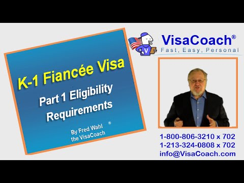 How to apply for a K-1 Fiancee Visa Form I-129F, Part 1 ...