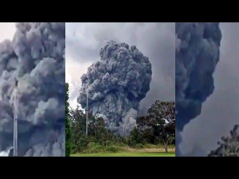Hawaii Volcano Spews Huge Cloud of Ash