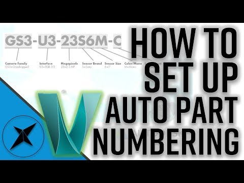 Tutorial on How to Set Up Auto File/Part Numbers in Autodesk Vault