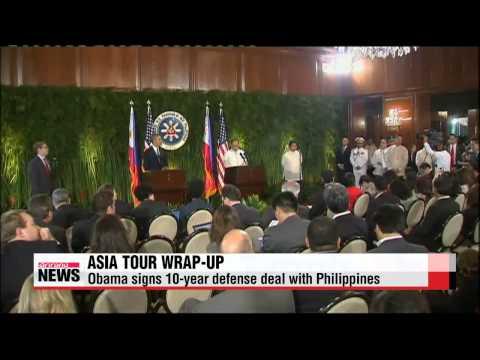 President Obama wraps up week-long tour of Asia