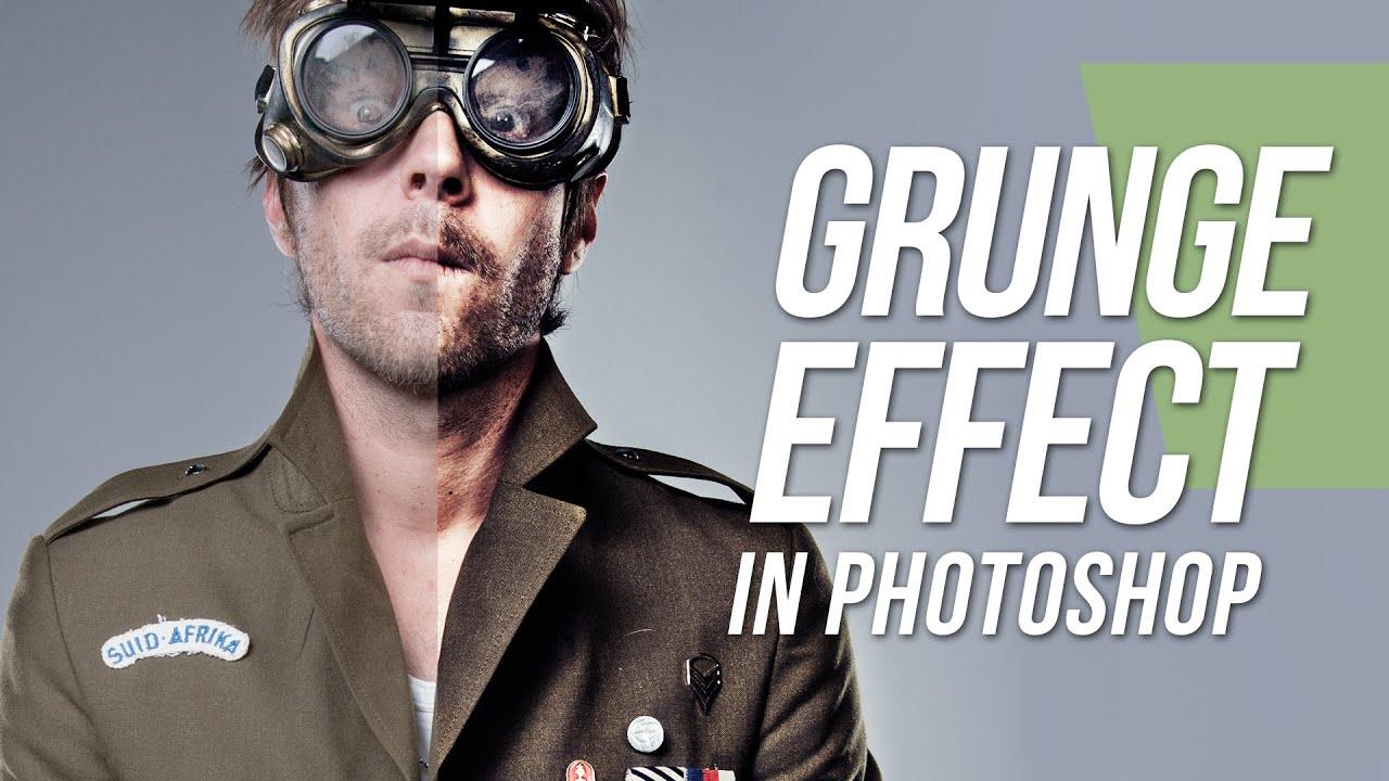 Grunge Camera Effect : Grunge effect photoshop tutorial youtube