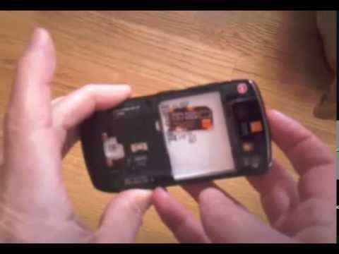 How to remove the sim card from the Blackberry Curve 8900
