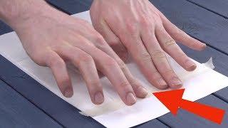 Weil er das Taschentuch SO aufs Papier klebt, rasten an Ostern alle aus. Tu das auch!