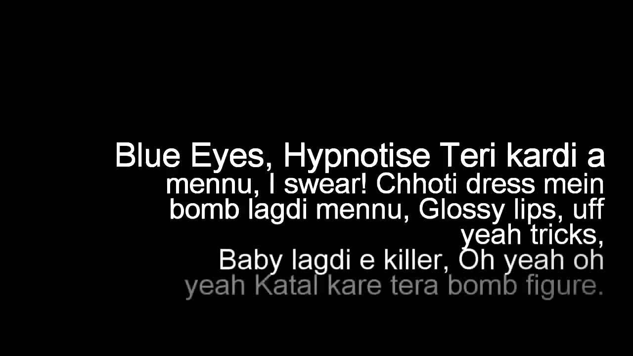 Blue eyes honey singh lyrics youtube