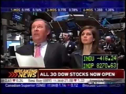 '2008 stock market crash' Oct. 24 2008. Stock futures hit limit down. CNBC Opening Bell - YouTube