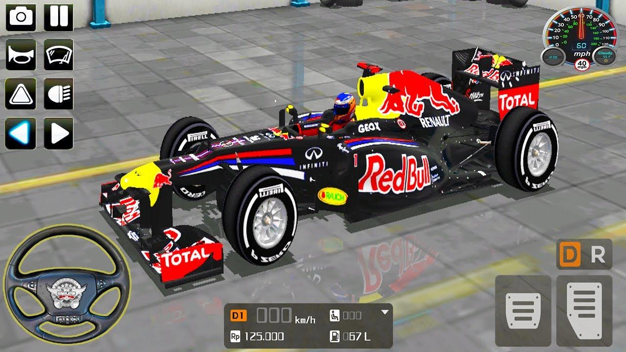 Red Bull Formula 1 Car Driving - Bus Simulator Indonesia - Android GamePlay 2021