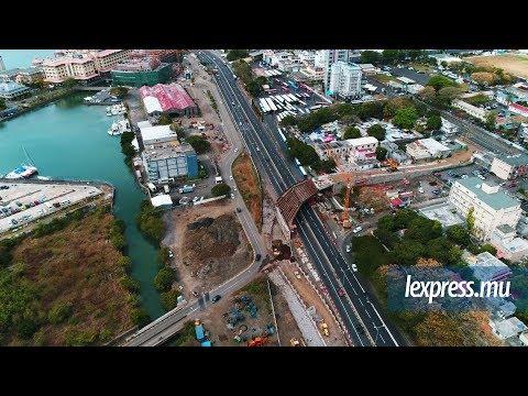Metro Express: la progression des travaux vue du ciel
