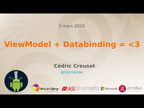 [GDG Rennes Android] ViewModel + Databinding = ❤️ - Cédric Creusot