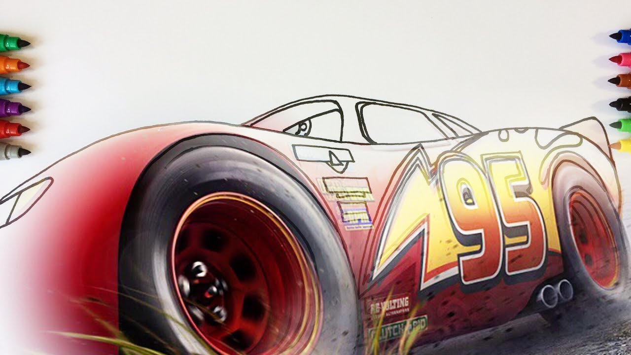 Cars 3 Lightning McQueen It 39 s Time To Win Coloring