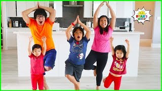 Kids Exercise Body Parts Song Dance Challenge With Ryan's World