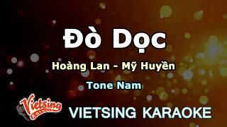 Đò Dọc -Hoàng Lan- Mỹ Huyền Tone Nam - vietsing Karaoke