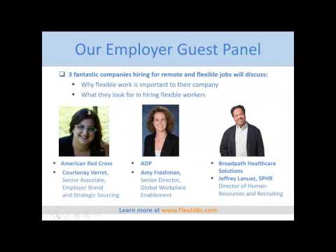 FlexJobs Webinar: Red Cross, ADP, BroadPath Health Hiring for Flexible Jobs!
