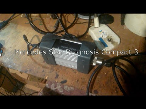 Mercedes Star Diagnosis Compact 3 установка, настройка, подключение.