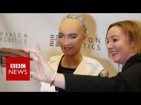 Ces 2018 Sophia The Robot On Siri And Alexa Bbc News Youtube