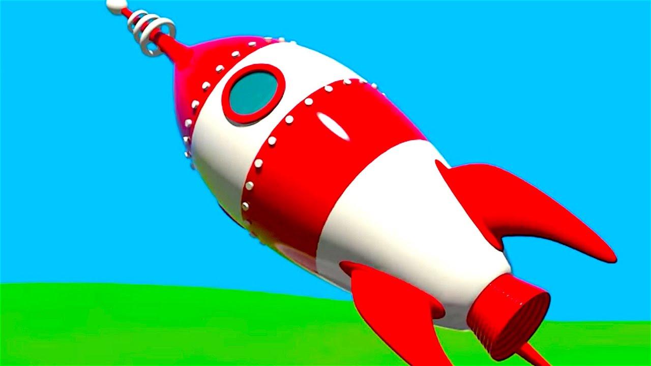 Cohete De Astronauta Y Vintage De Dibujos Animados: Aviones Para Niños