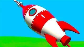 Un Cohete espacial - Aviones para niños - Aeropuerto