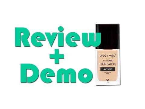 "Review + Demo ""Photofocus Foundation"" (Wet n Wild)"