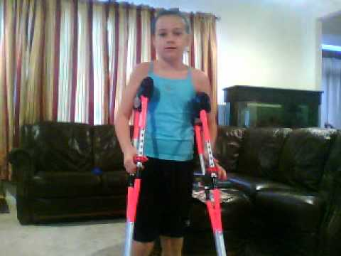 playing with crutches kids not a smart thing to do