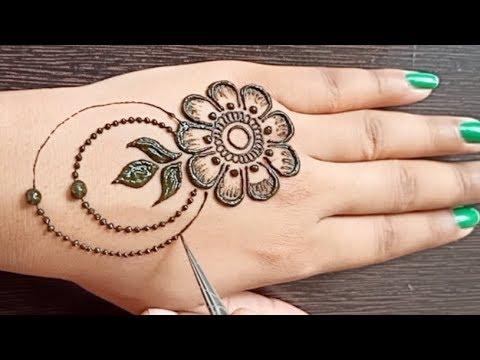 Flower Stylish Back Hand Mehndi Design | Gulf Mehndi Design | Jewellery Mehndi Design | Henna Art