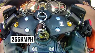 Riding hayabusa at 255 kmph Suzuki Hayabusa GSX 1300R genuine review top speed record