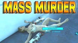 Fallout 4 - MASS MURDER WITH TITAN HAMMER!