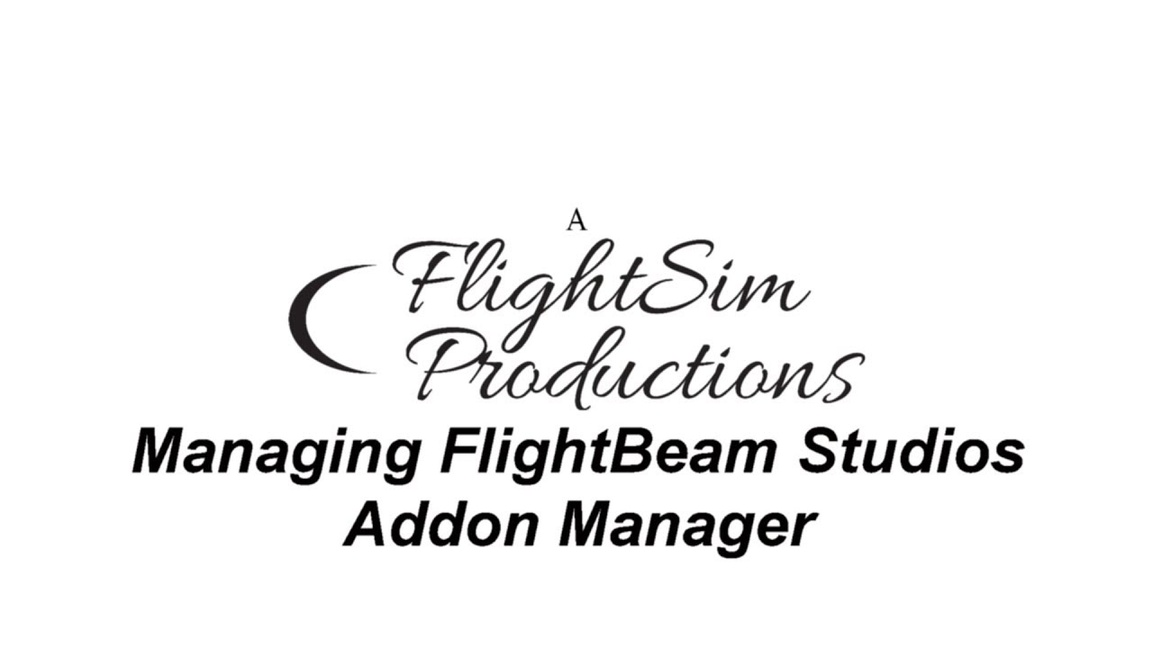 Flightbeam Studios Addon Manager