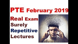 PTE 2019 Latest REPEATED Real Exam Lectures- Earthquake, Fishing and Explicit Memory.