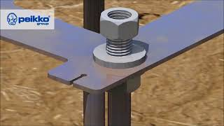 Bolt Connections - Column Shoes and Anchor Bolts  From PEIKKO Group