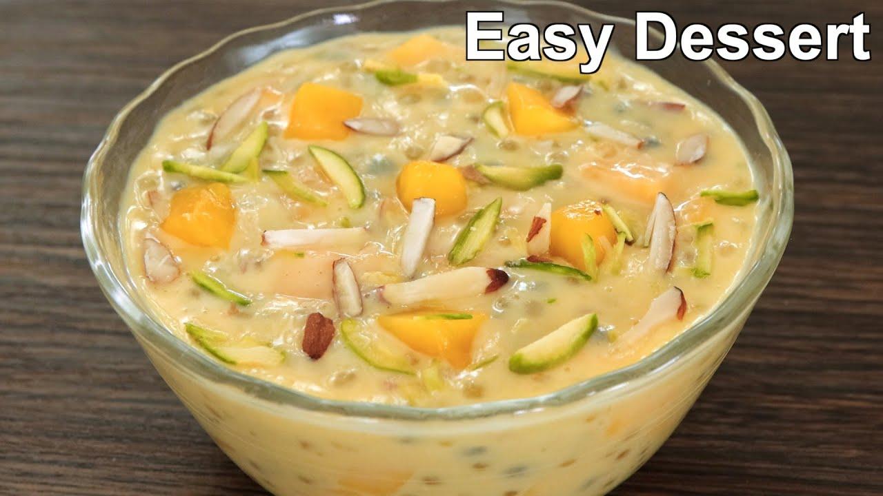 Mango Dessert with 1.5 cup Milk | Delicious & easy dessert recipe