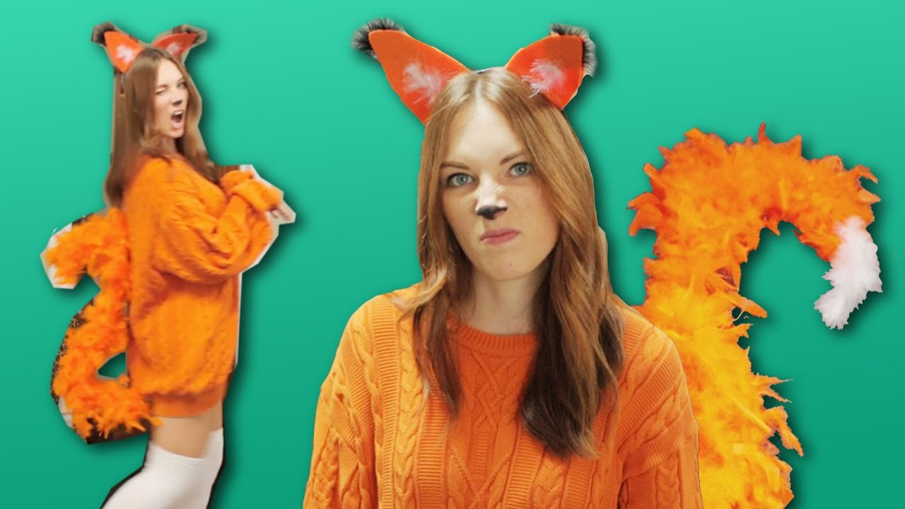 diy fox costume last minute youtube