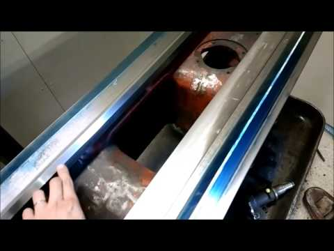 Lathe restoration project part 17 -Leveling and foot talk-