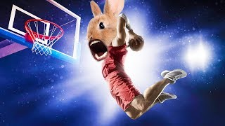 BUNNY BASKETBALL | Super Bunny Man w/ Jack, Bob, Wade