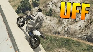 AL BORDE DEL PRECIPICIO - Gameplay GTA 5 Online Funny Moments (Carrera GTA V PS4)