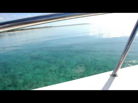 On a speedboat in Mozambique